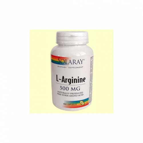 Solaray L - Arginina 500 mg 100 cápsulas