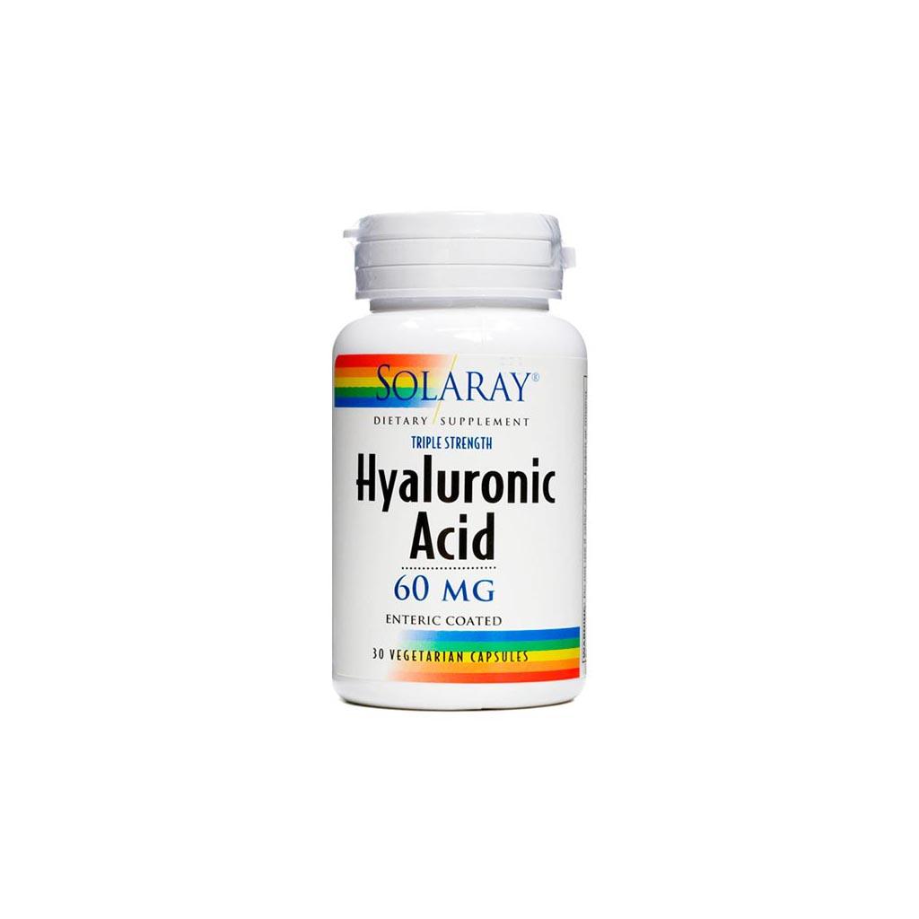 Solaray Ácido Hialurónico 60 mg 30 cápsulas
