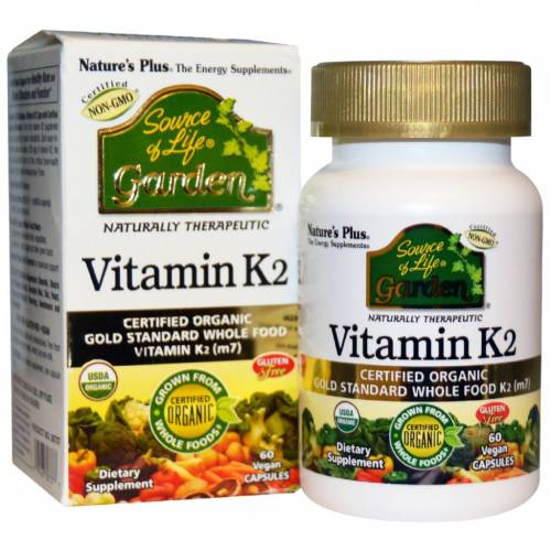 Nature's Plus Vitamin K2 60 cápsulas vegetales