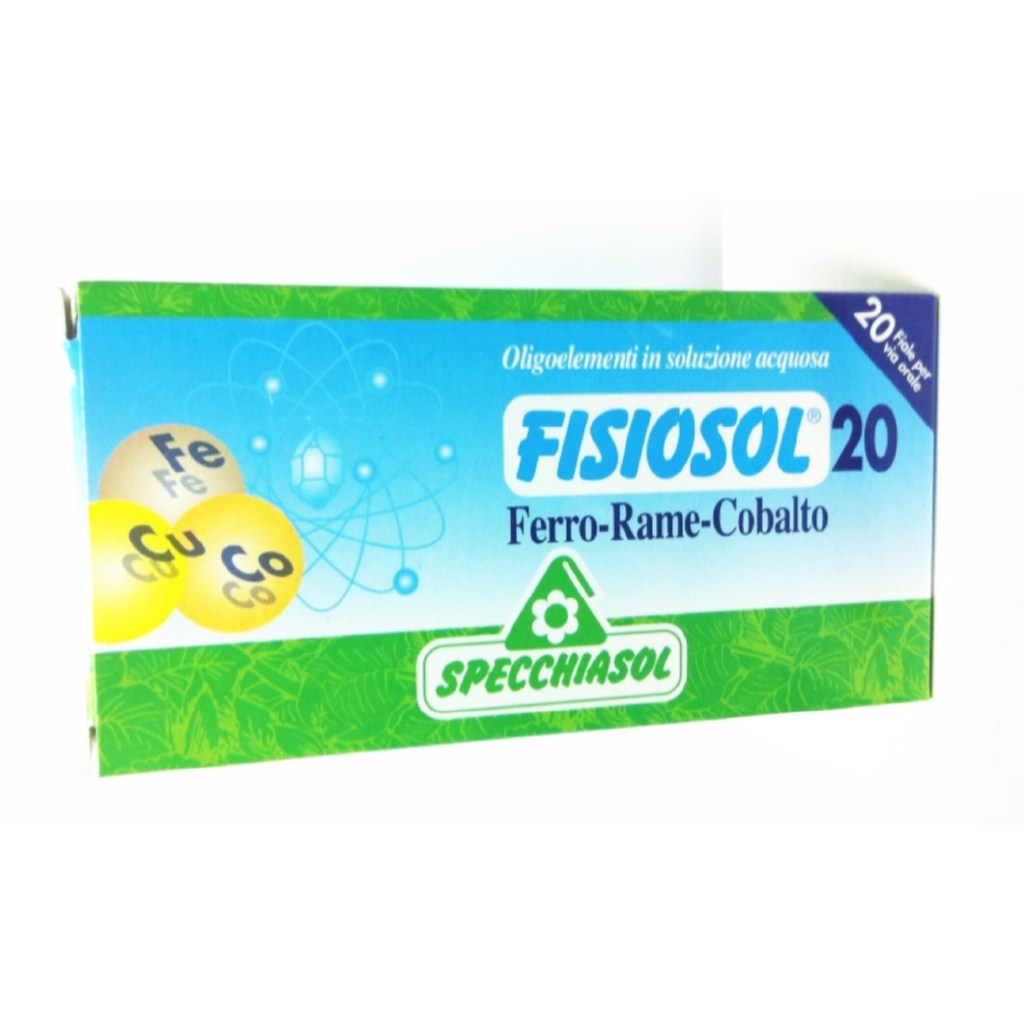 Specchiasol Fisiosol 20 Hierro - Cobre - Cobalto 20 ampollas