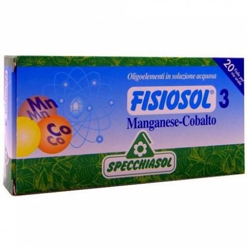 Specchiasol Fisiosol 3 Manganeso - Cobalto 20 ampollas