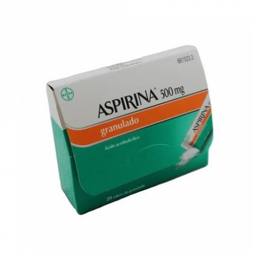 Bayer Aspirina 500 mg Granulado 20 Sobres