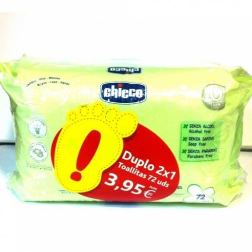 chicco pack duplo toallitas