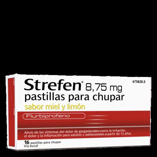 Strefen 8,75 mg pastillas para chupar sabor miel y limón