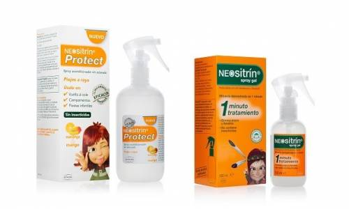 Neositrin Pack: Spray Gel 60ml + Protect Acondicionador 100ml + Lendrera
